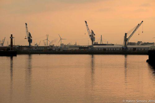 Hamburg Hafen von der HCU aus